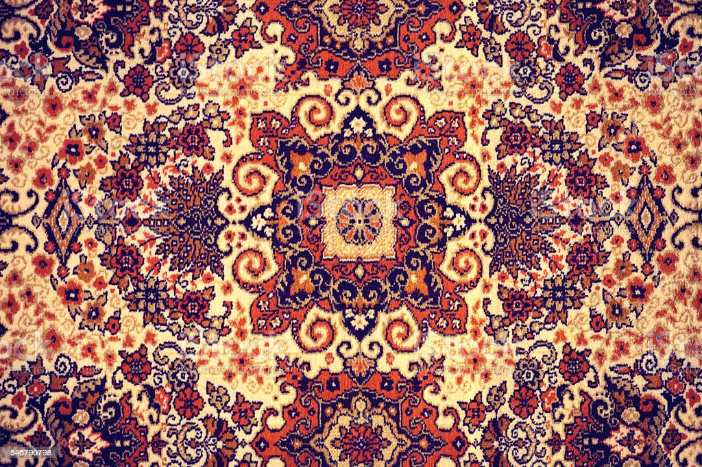 Persian Carpet. stock photo