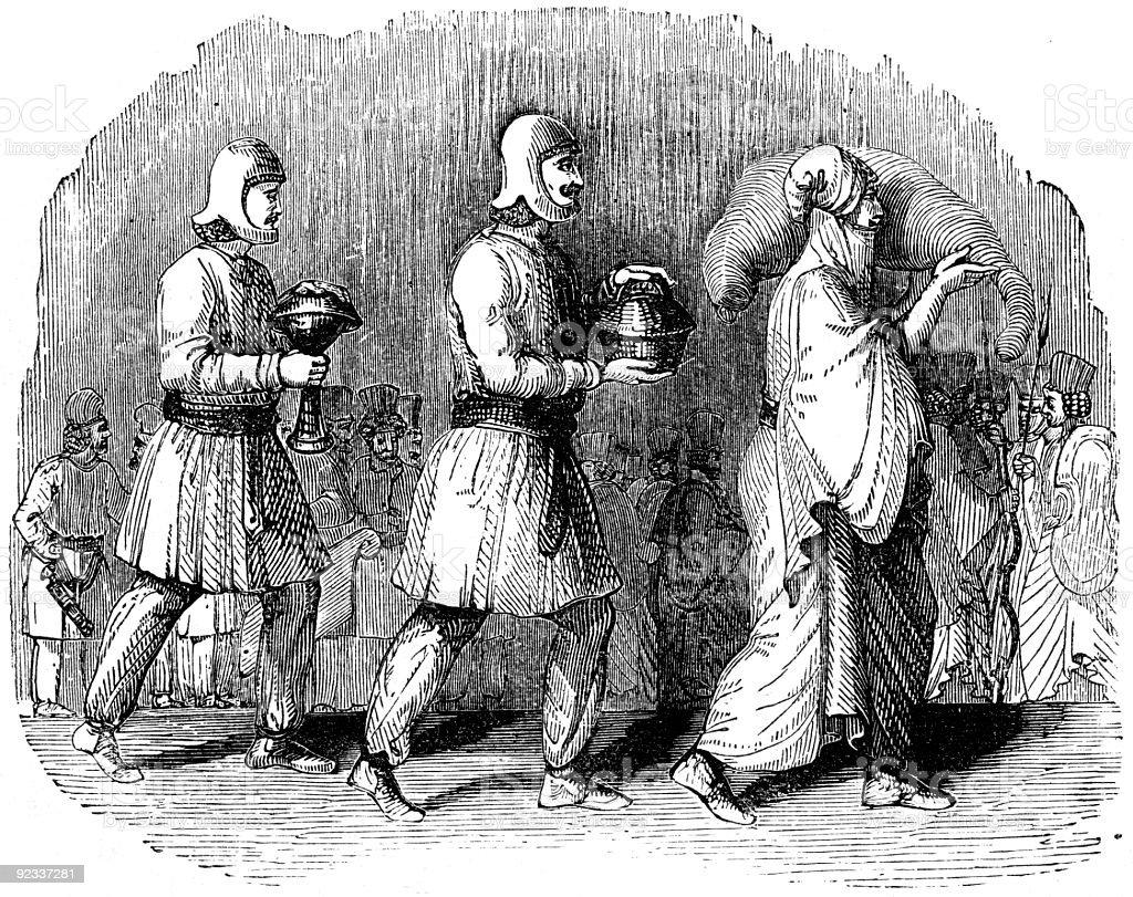 Persian Cupbearers stock photo