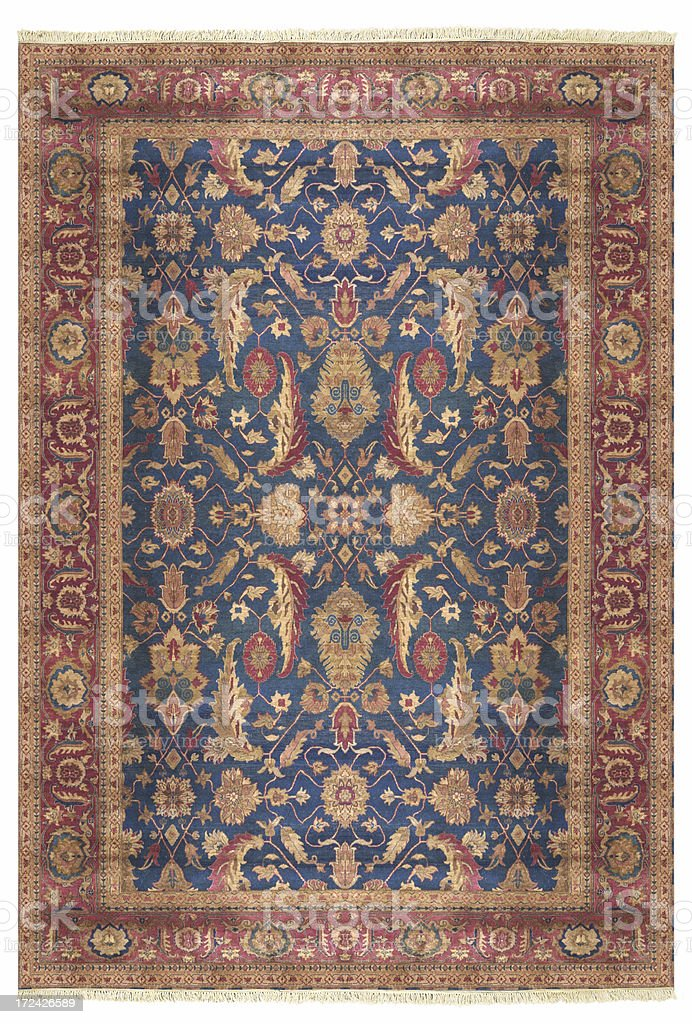 Persian Oriental Rug stock photo