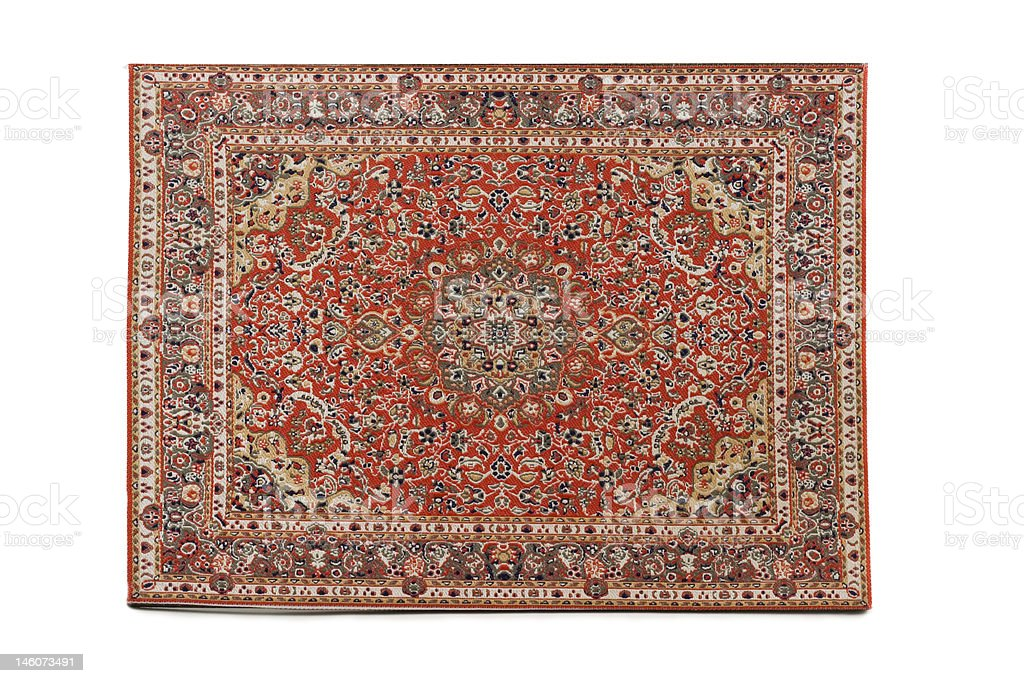 Persian Rug isolated on white background stock photo
