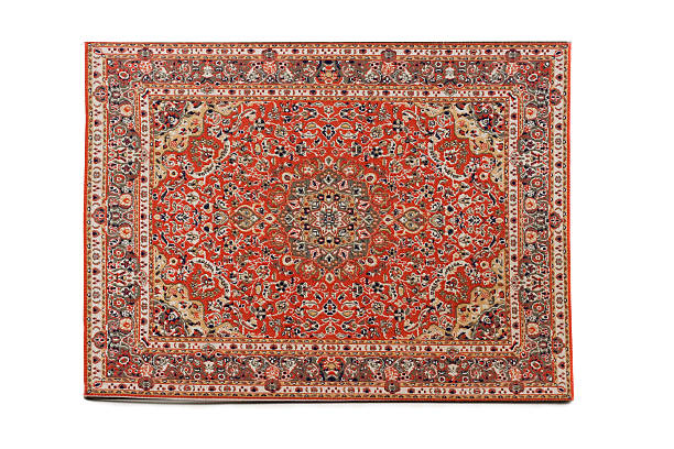 Persian Rug isolated on white background stock photo