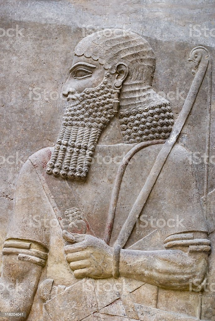Persian soldier royalty-free stock photo