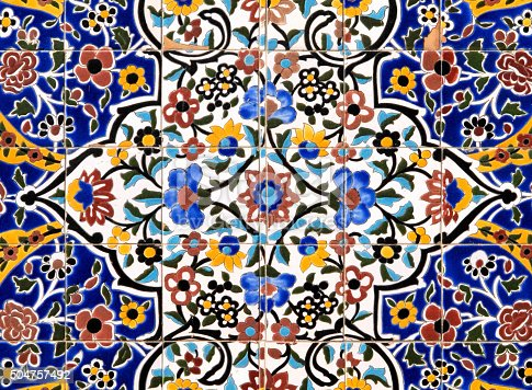 Persian Tiles Floral Pattern Stock Photo Amp More Pictures