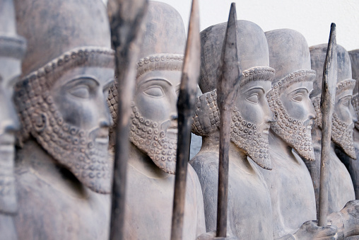 Persian Warriors In Line Stock Photo - Download Image Now