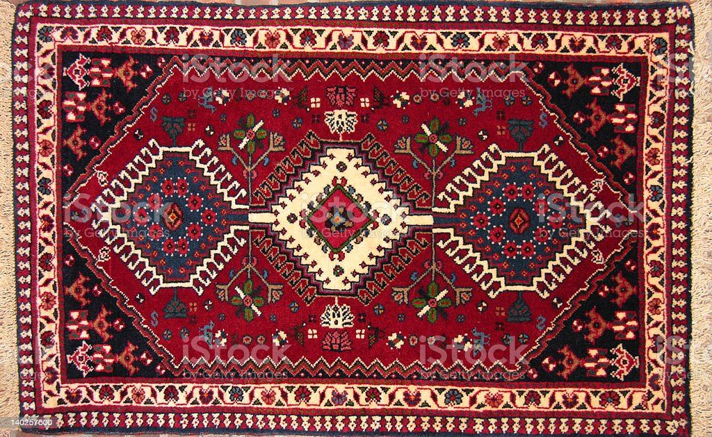 Persian Yalemeh Rug stock photo