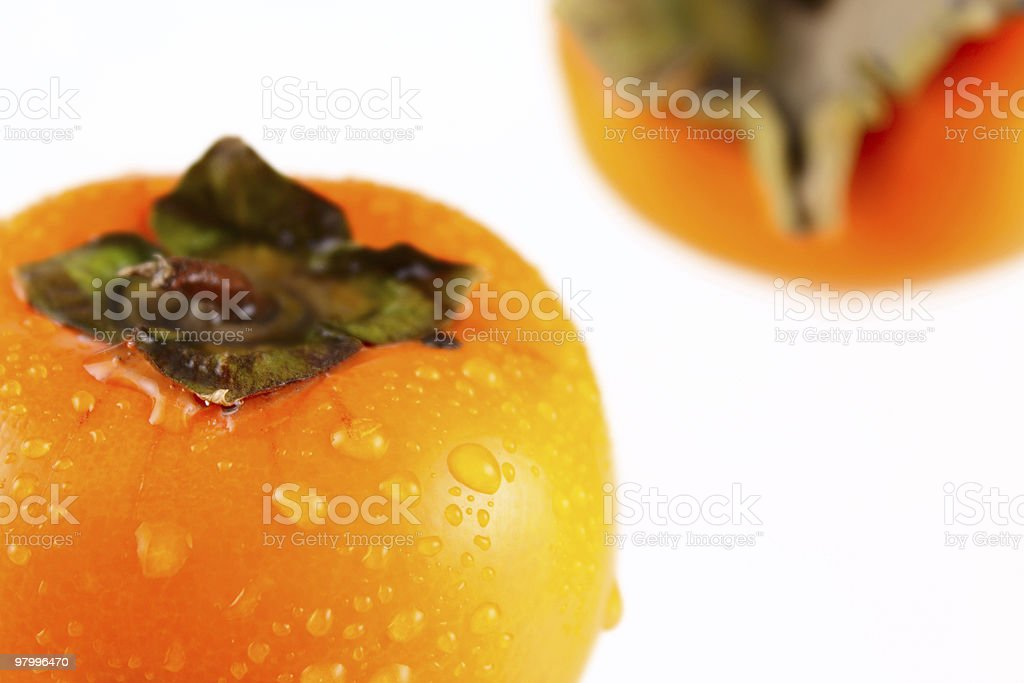 Persimmon removed close up royalty-free stock photo