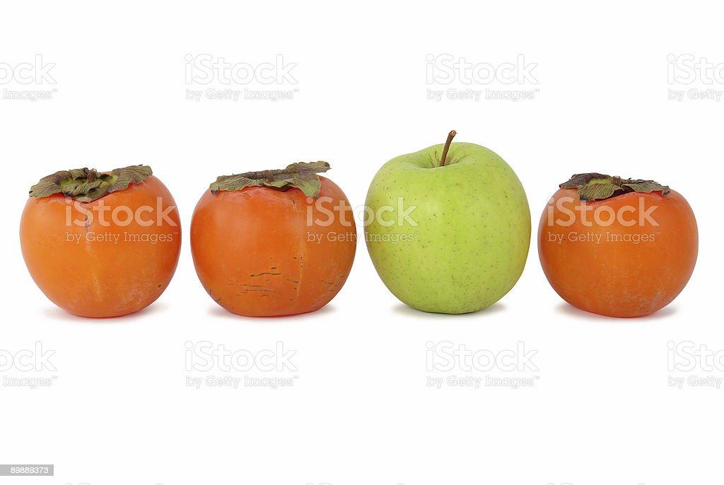 Persimmons und apple Lizenzfreies stock-foto