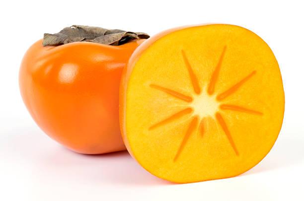 persimmons - sharonfrucht stock-fotos und bilder