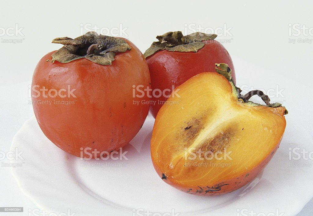 Persimmons royalty-free stock photo