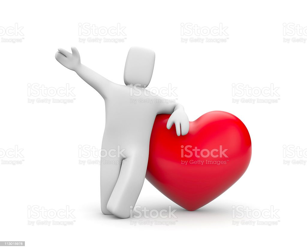 Person and heart royalty-free stock photo