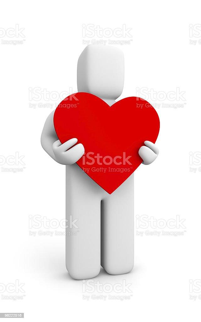사람 및 심장 royalty-free 스톡 사진