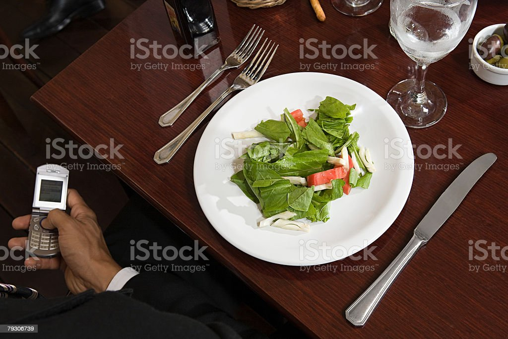 Person at restaurant royalty-free 스톡 사진