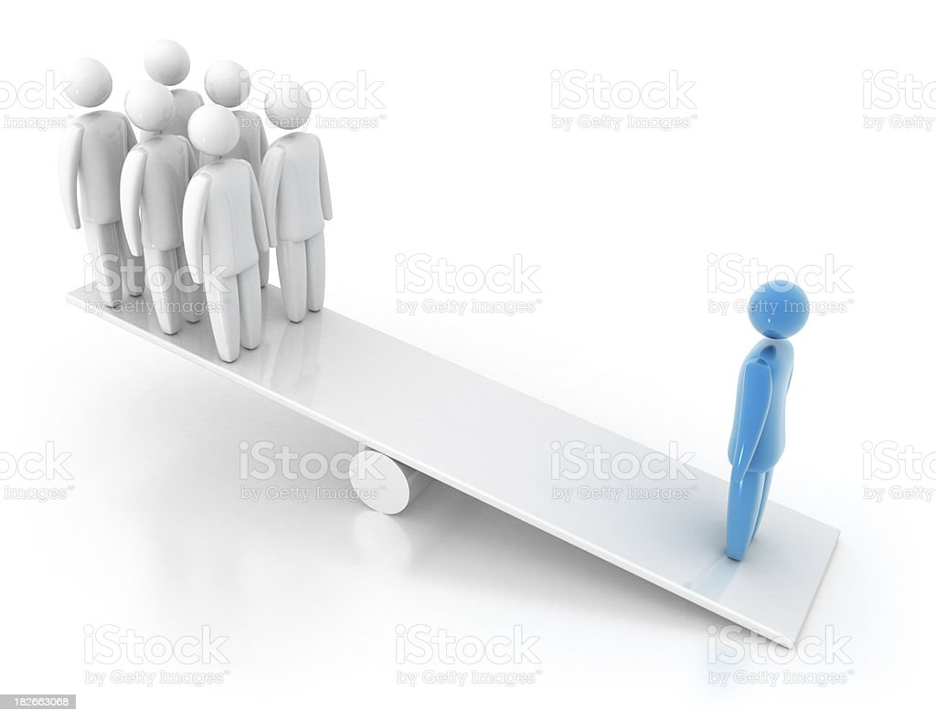 3D person - Balance Concept royalty-free stock photo
