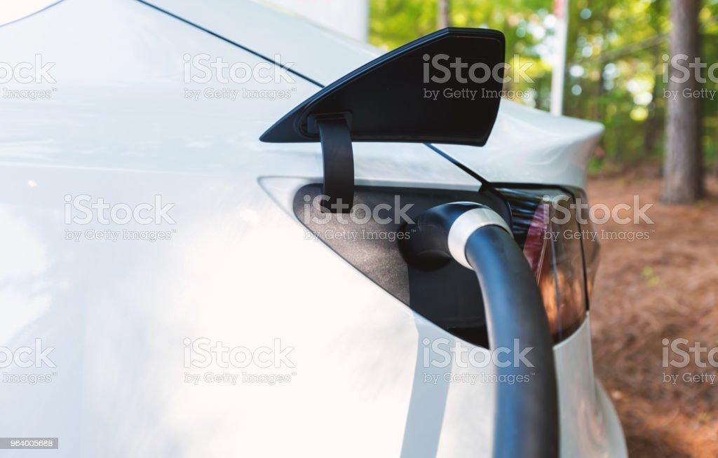 電気自動車を充電する人 - アメリカ合衆国のロイヤリティフリーストックフォト