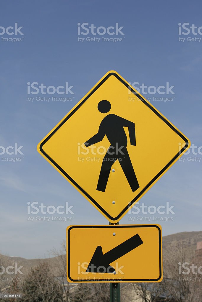 Person Crossing royalty free stockfoto