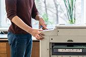 person customize modern printing machine