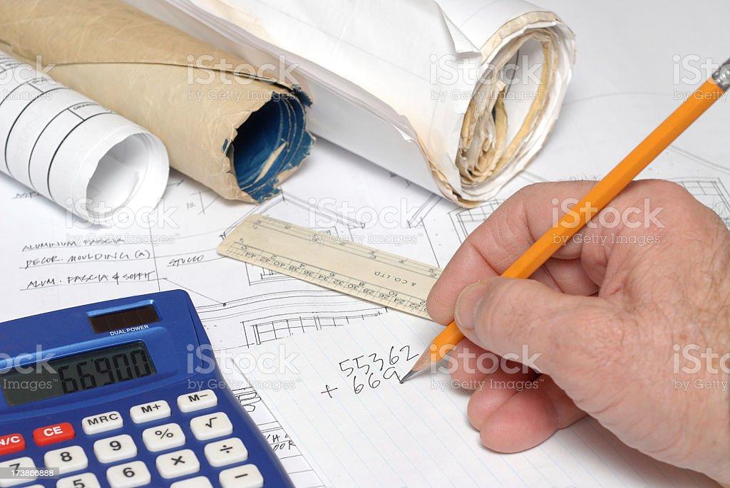 Konstruktion Kostenvoranschlags – Foto
