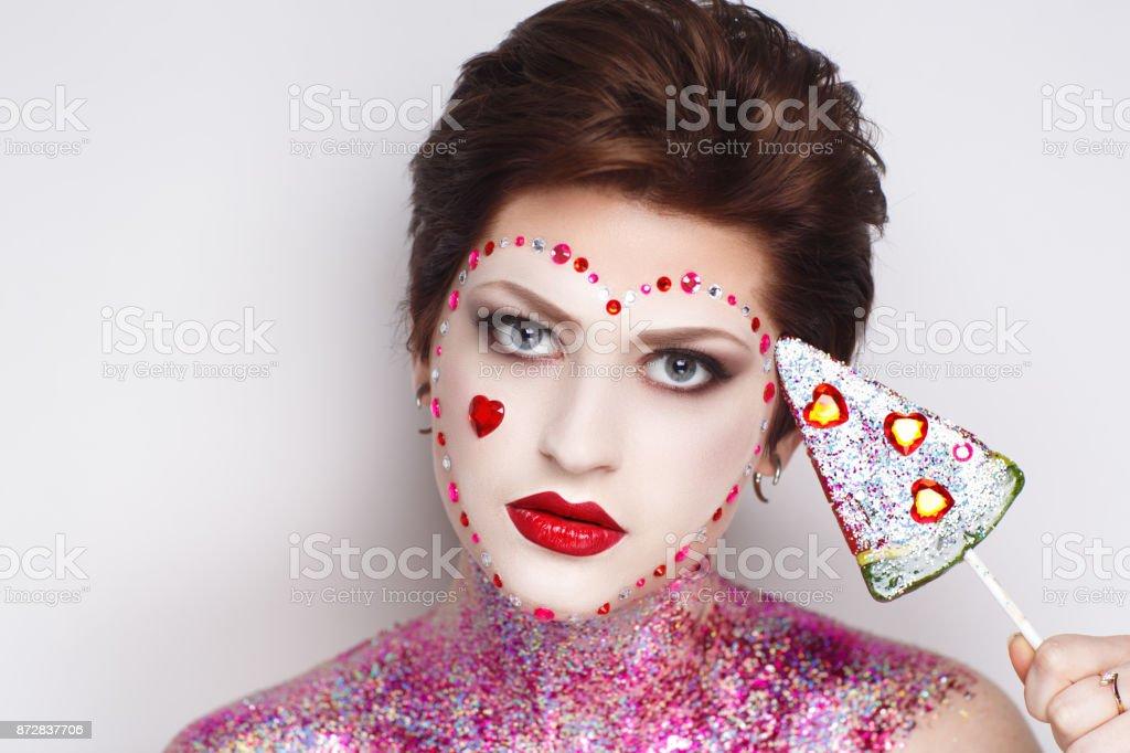 person face closeup conceptual women stock photo