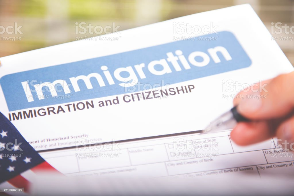 Personen Amerikanische Einwanderung Staatsbürgerschaft Formulare ...