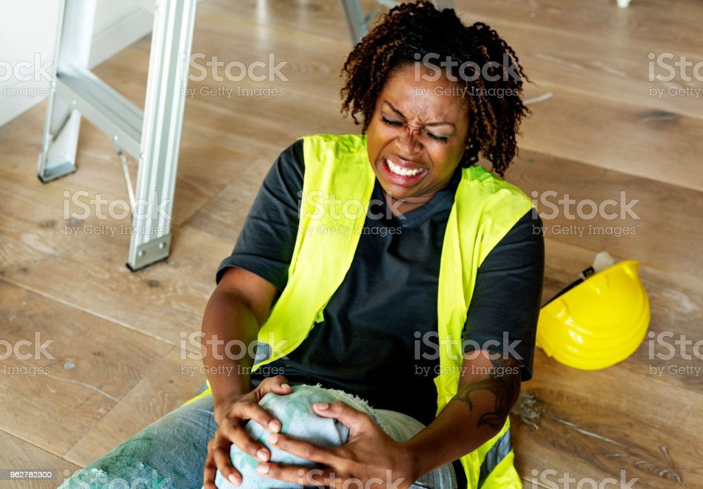 A person getting injured stock photo