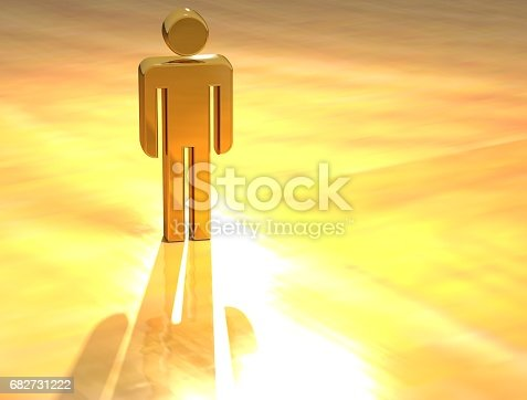 istock 3D Person Gold Sign 682731222
