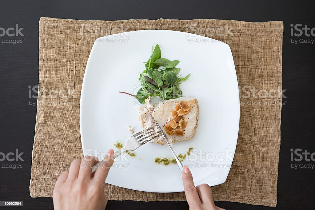 Person having a meal 免版稅 stock photo