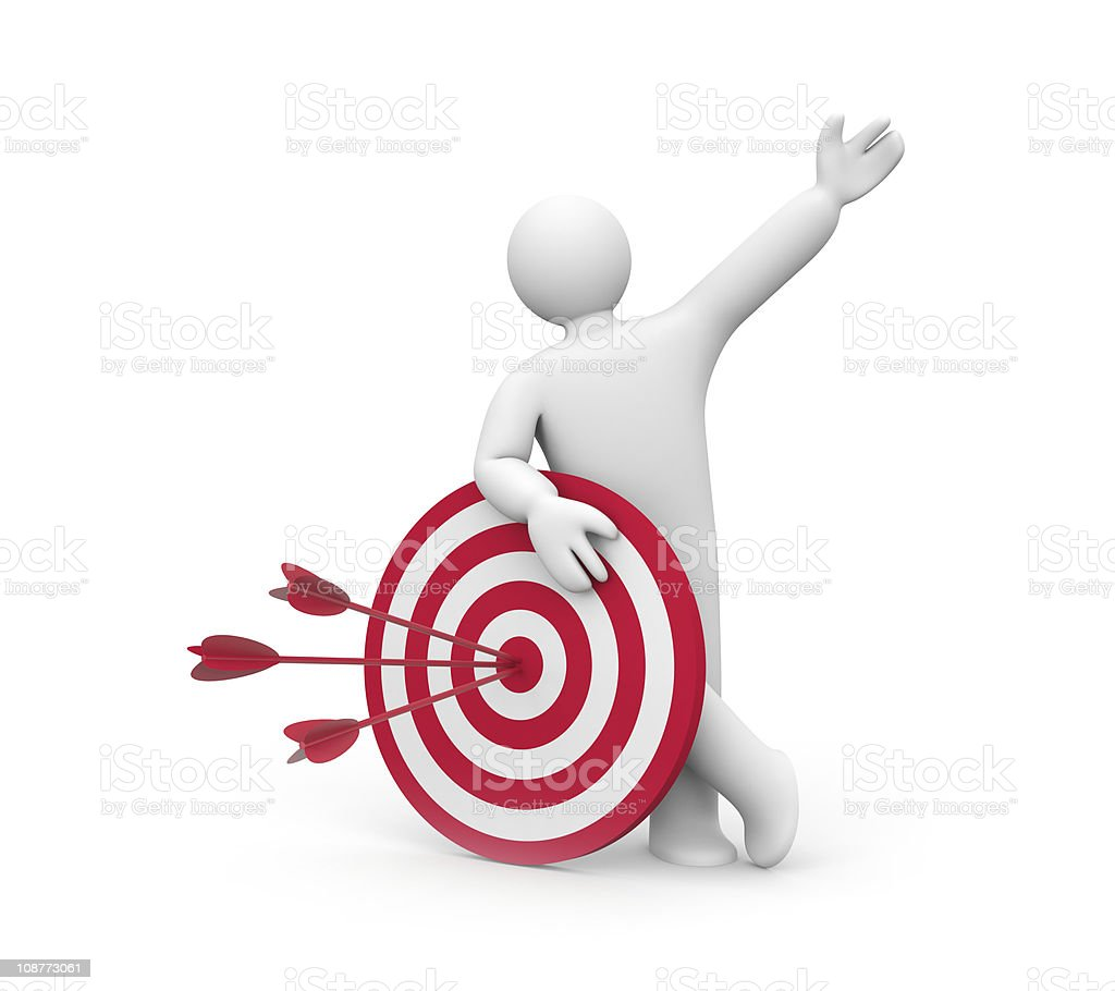 Person hold target royalty-free stock photo