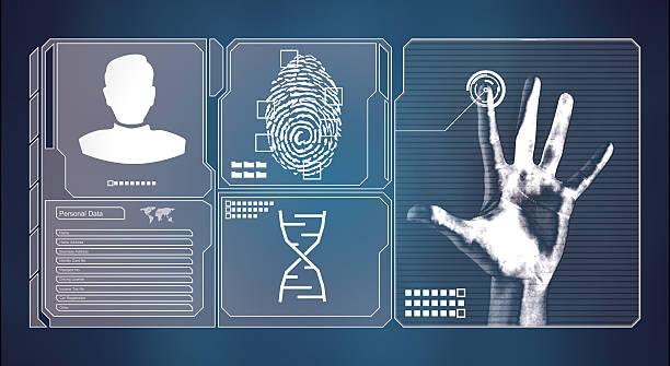 Person identity UI screen stock photo