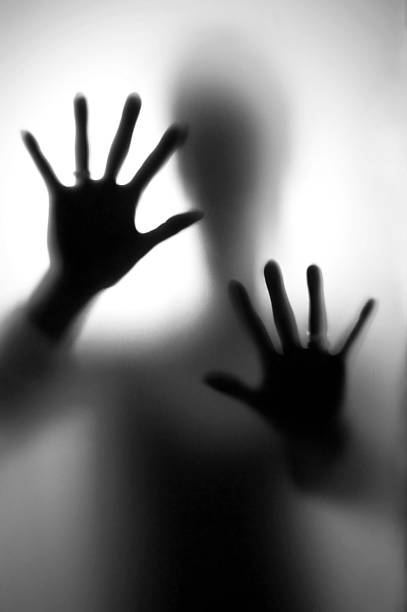 Person in fear stock photo