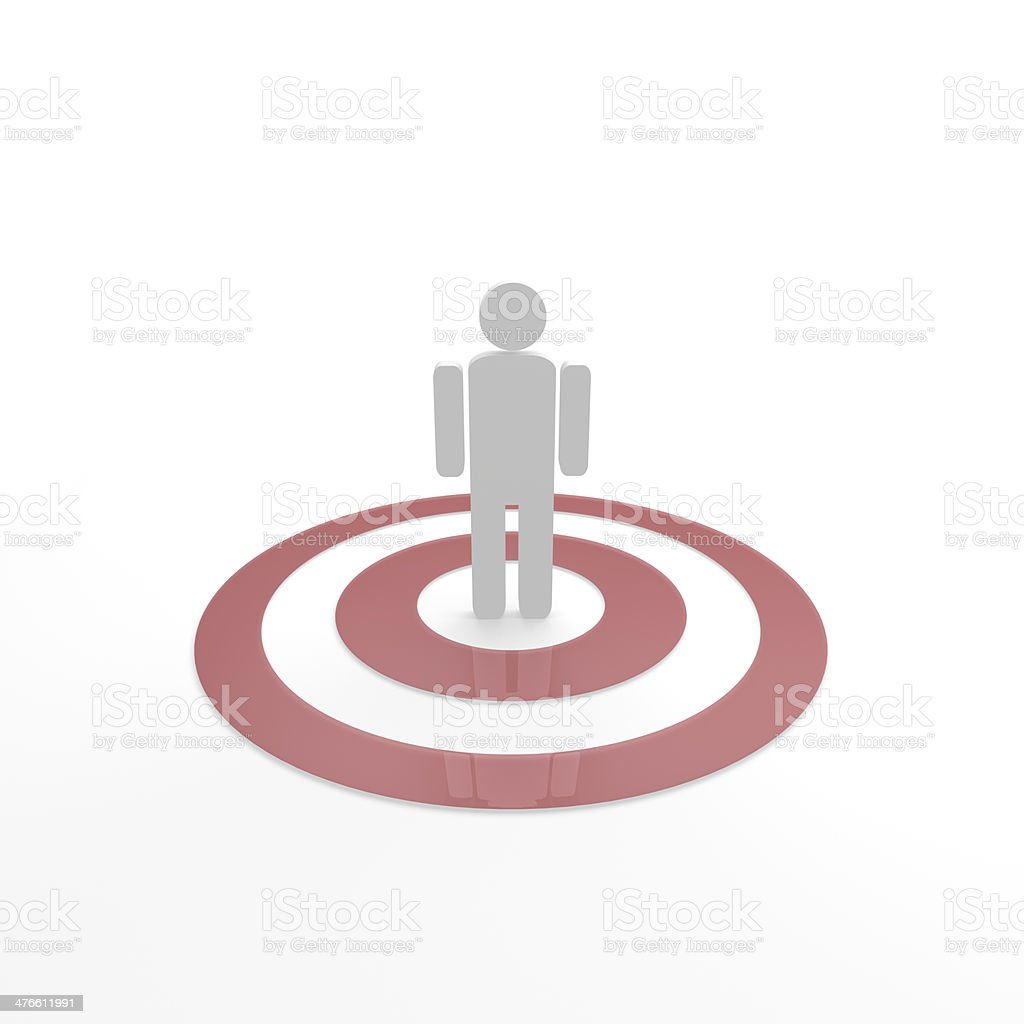Person in focus royalty-free stock photo