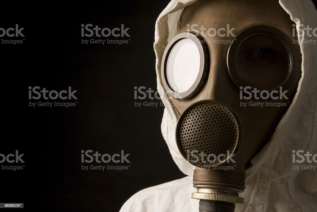 Person in gas mask royalty-free stock photo