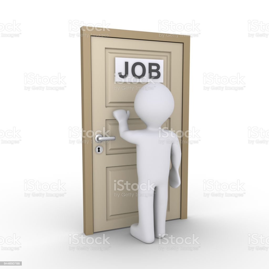 Person is in need of job stock photo