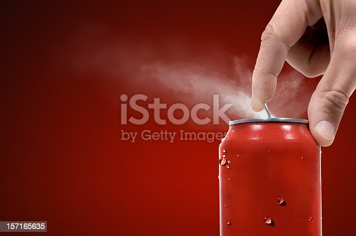 soda can being opened