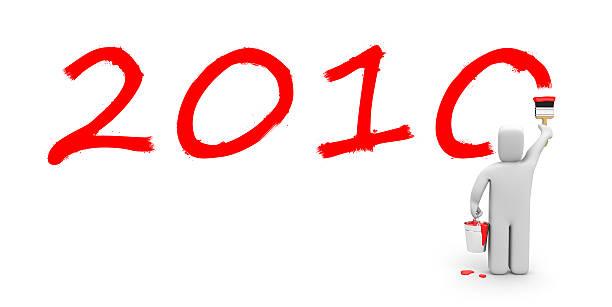 persona vernice il testo 2010 - 2010 foto e immagini stock