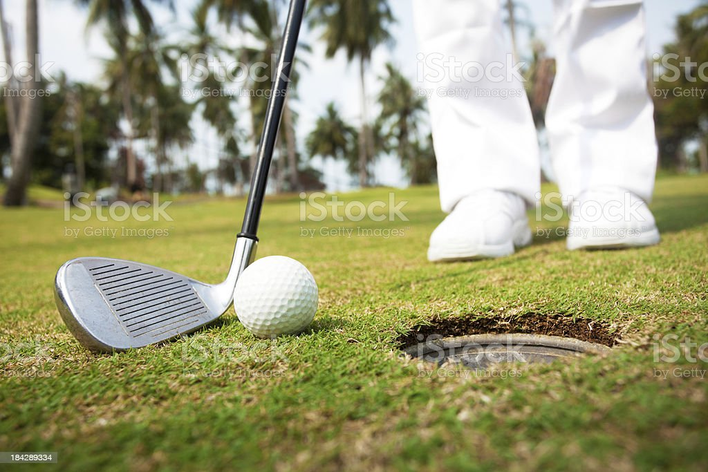 Person playing golf. royalty-free stock photo