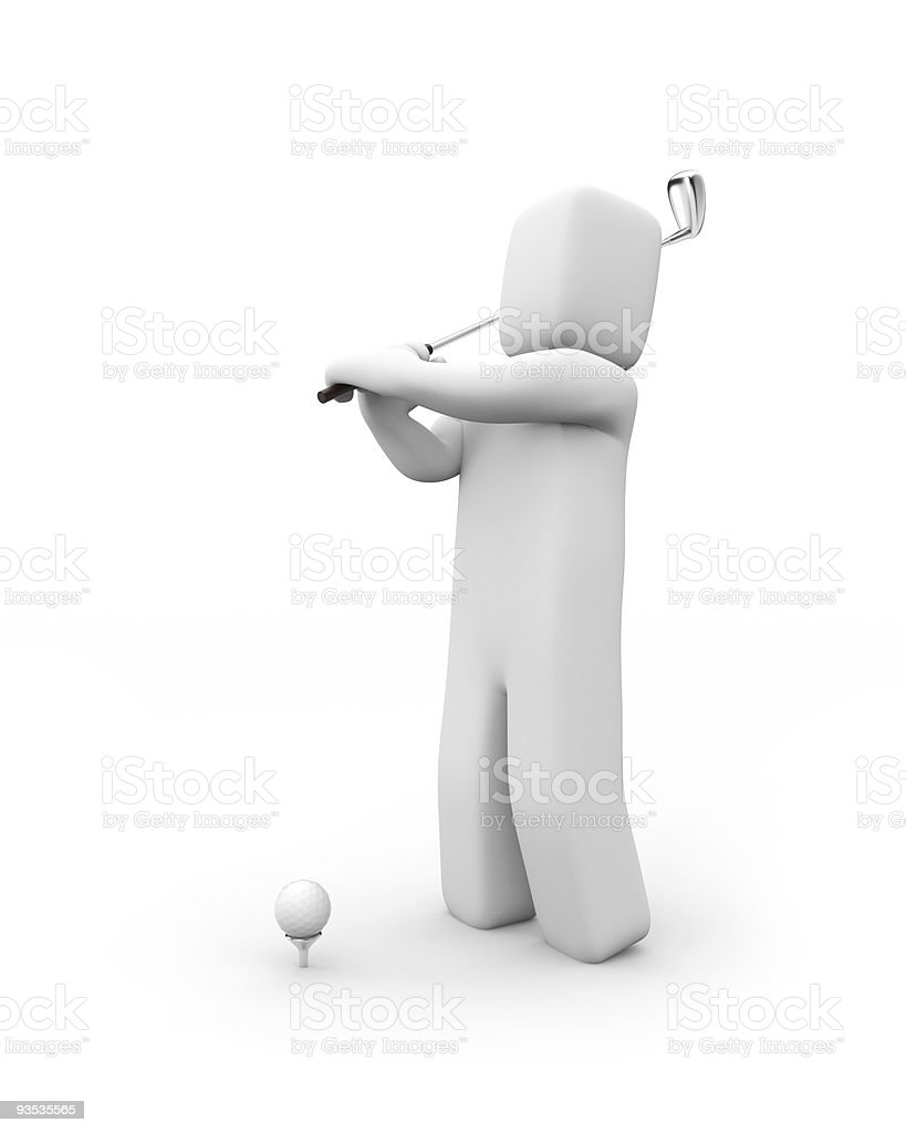 Person playing golf royalty-free stock photo
