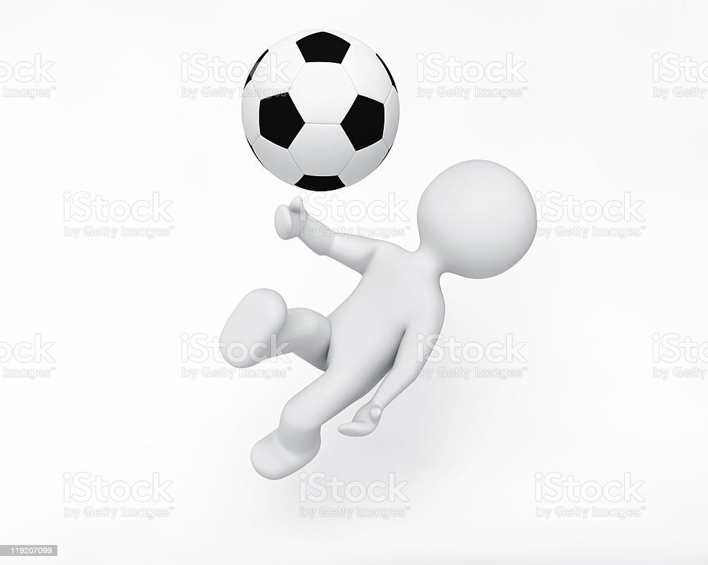 person playing soccer royalty-free stock photo