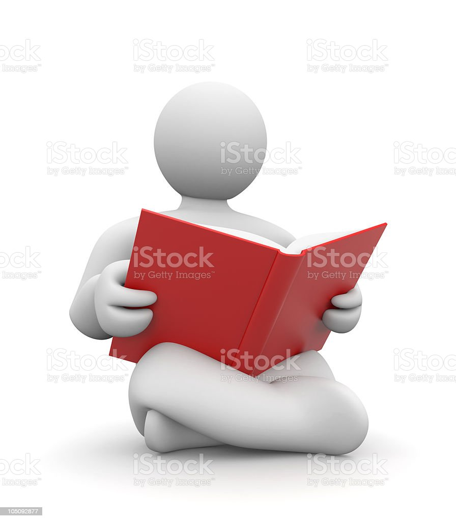 Person read book royalty-free stock photo