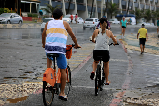 person riding a bicycle in Salvador