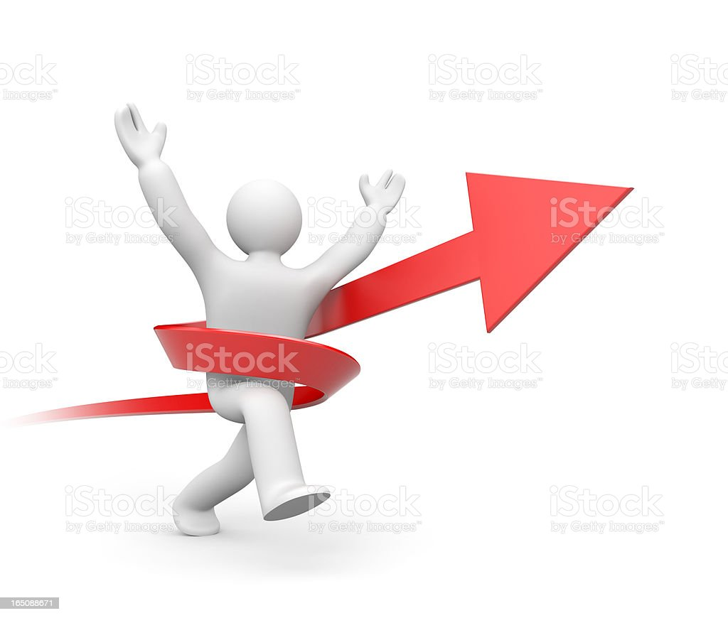 Person running to success royalty-free stock photo