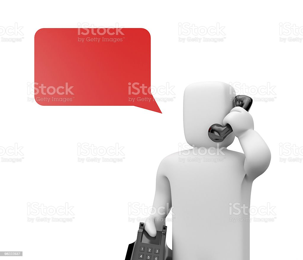 Person speak by phone royalty-free stock photo