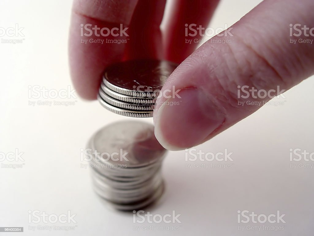 Person Stacking Coins - Royalty-free Banking Stock Photo