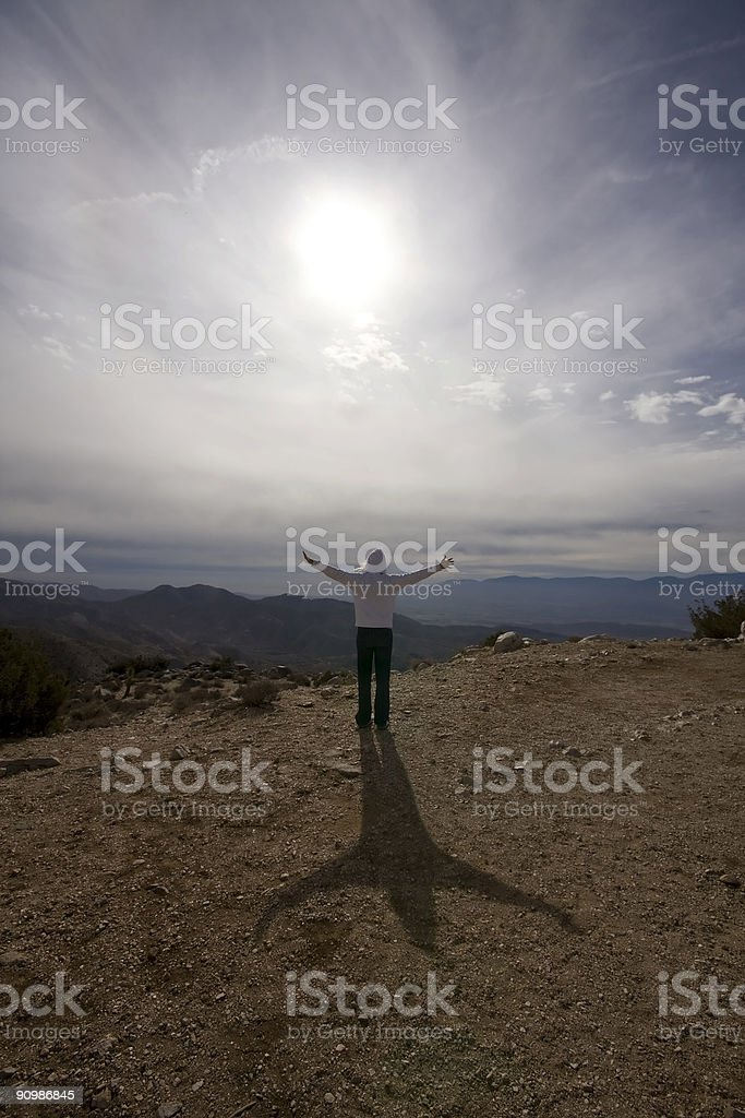 Person Standing Arms Outstretched royalty-free stock photo