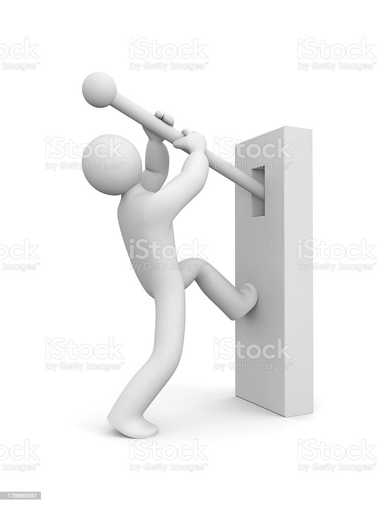 Person switch something stock photo