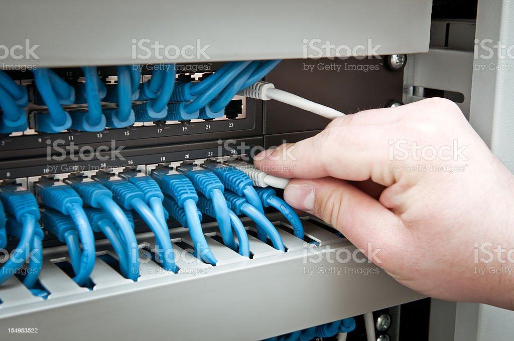 Netzwerk-hub und Kabelfernsehen – Foto
