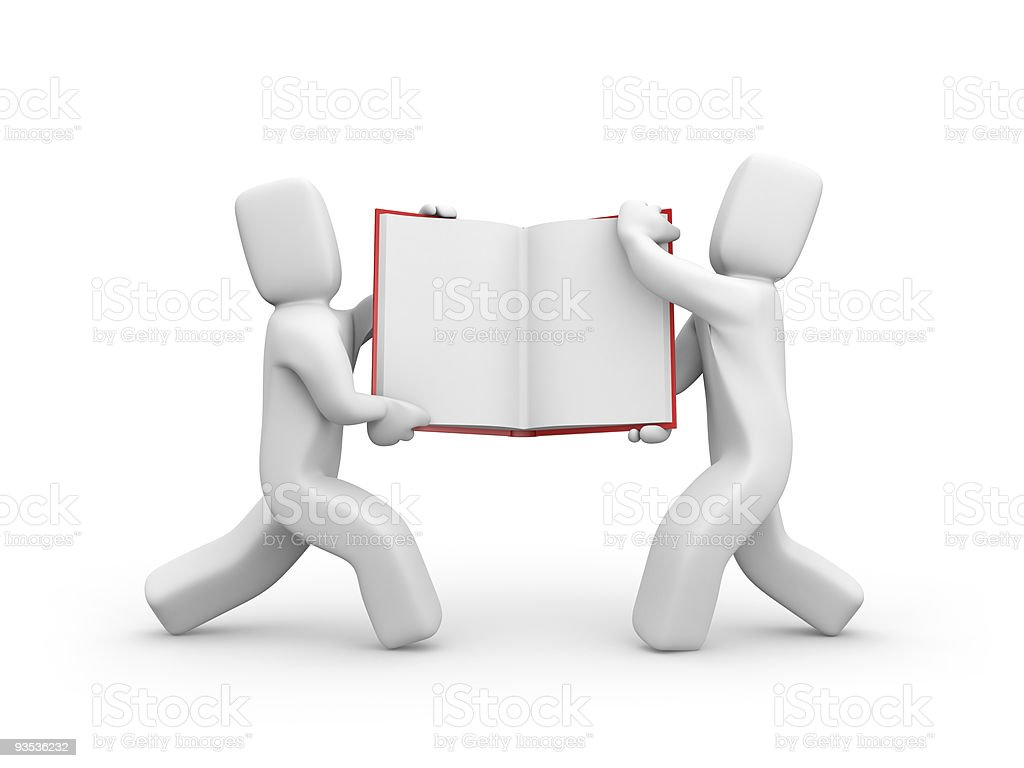 Person with book royalty-free stock photo