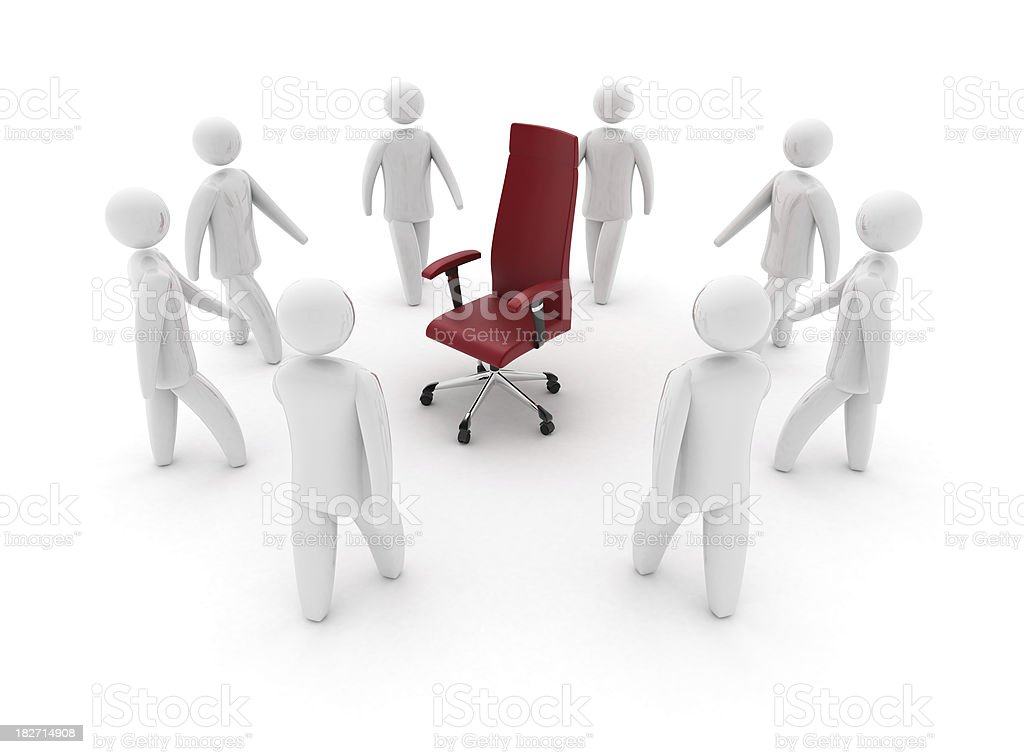 3D person with Office chair royalty-free stock photo