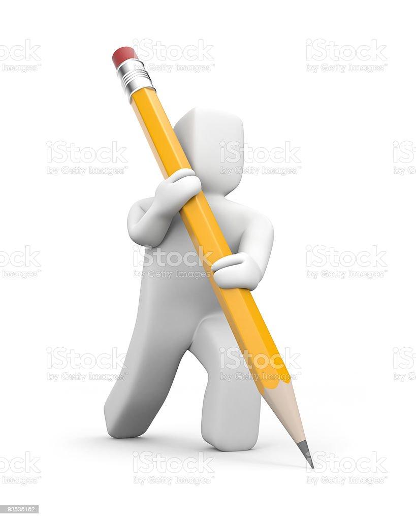 Person schreibt Bleistift Lizenzfreies stock-foto