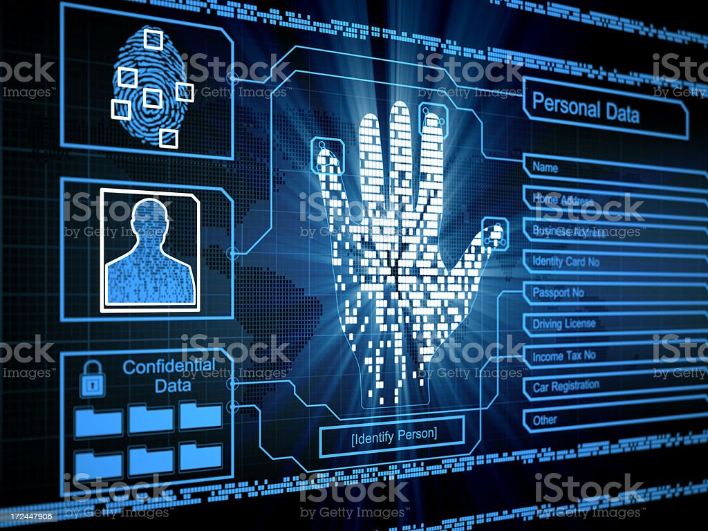 Personal and confidential data security concept stock photo