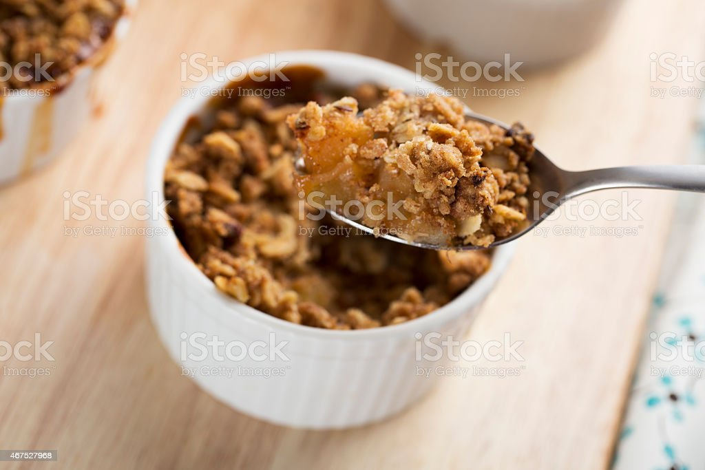 Personal Apple Crumble stock photo